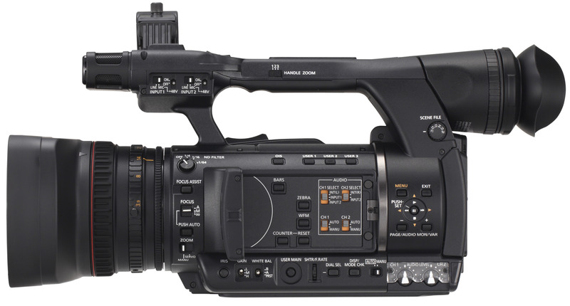 Panasonic's HPX250, now on the BBC's approved camera list.