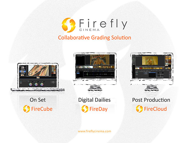FireCloud is a colour grading finishing software that offers collaborative work, whether on the same or different sites. These collaborative functions are at the moment unique on the market. It's main features are conformance, editing, high end colour grading (unlimited secondaries, unlimited shape, simple special effects, cropping and scanning).