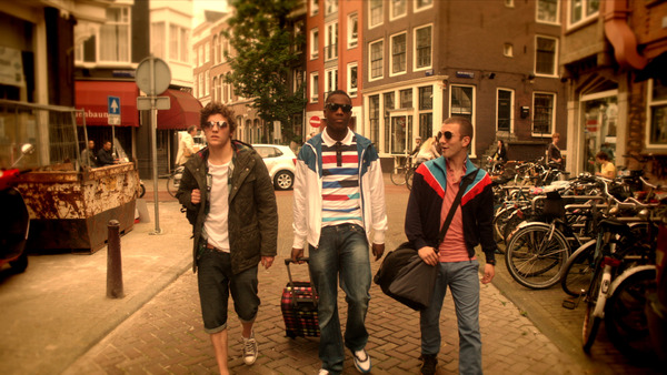 The colours in the Amsterdam story needed to convey a dreaminess and warmth, representing the boys' hazy drug fuelled experience and a European romanticism, especially with a love story.