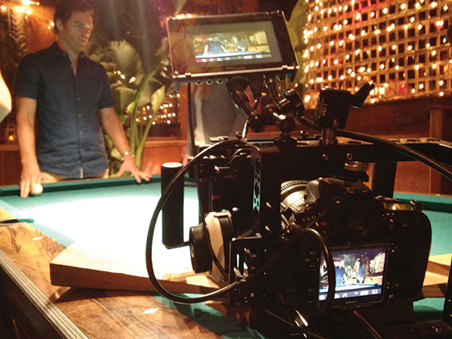 Nikon's D800 on set with Dexter himself - actor Michael C. Hall.