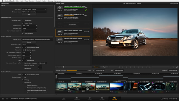 DaVinci Resolve 9.1 - now usable with the Retina display.