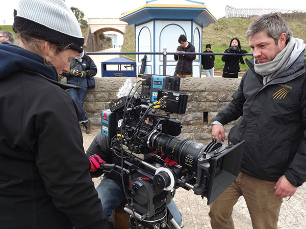 DoP Steve Lawes with a very early Sony F55 4K camera but he managed to shoot in RAW.