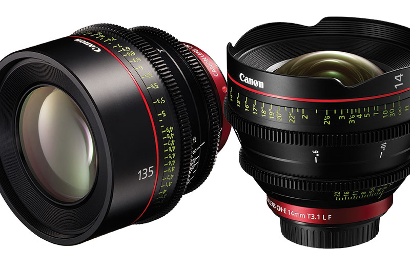 Two new lenses for Canon's Cinema EOS brand, this time a very wide angle 14mm and a 135mm for the telephoto end.