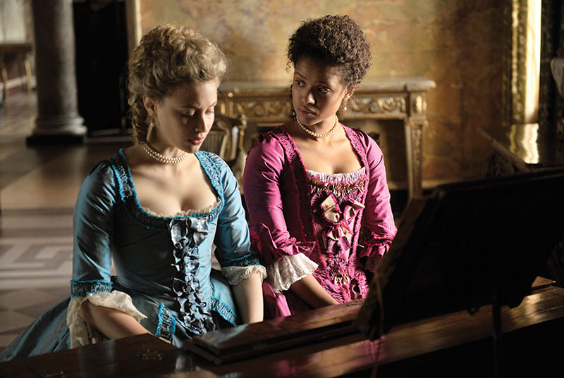 Belle, Starring Gugu Mbatha-Raw (pictured), Tom Wilkinson, Sarah Gadon (pictured), Miranda Richardson and Emily Watson, and directed by BAFTA Award winning director Amma Asante.