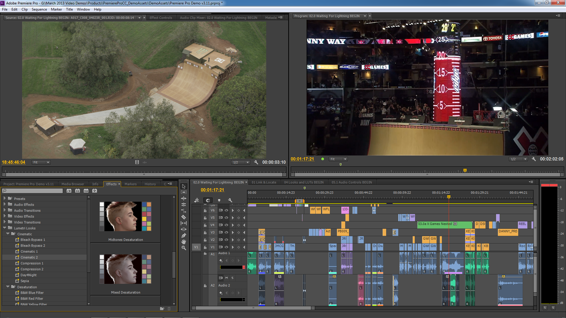 Adobe's Premiere gets necessary improvements too including AAF export.