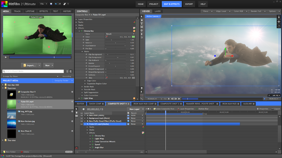 Screen shot from HitFilm 2 Ultimate - soon to be on your Mac screen.