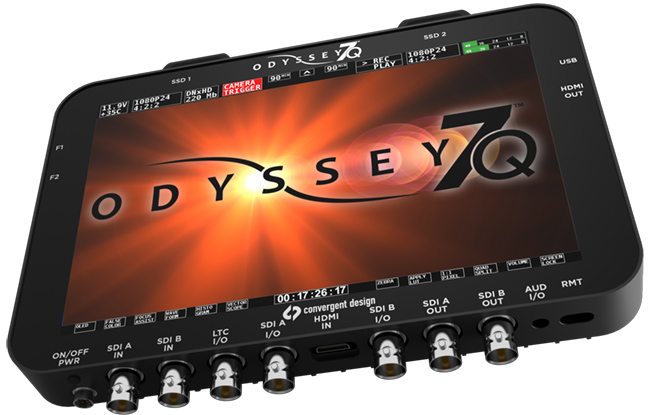 Convergent Design are now shipping their Odyssey 7Q OLED monitor and recorder.