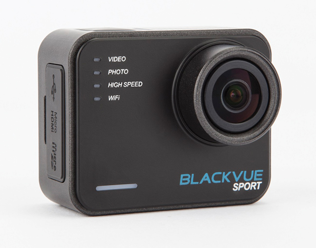 A new entrant in to the Action Camera market. Blackvue Sport might remind you of another famous action cam. It has a good spec and a range of accessories that are extra at checkout time. The Sport also has Smartphone Apps for iOS and Android.