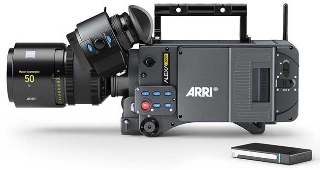 Alexa SXT will replace the current ALEXA XT range of cameras. Pictured Alexa SXT with CODEX SXR drive.
