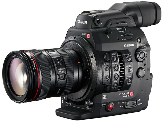 Canon's new C300 MkII brings 15 stops of dynamic range and a 4K performance but no global shutter.