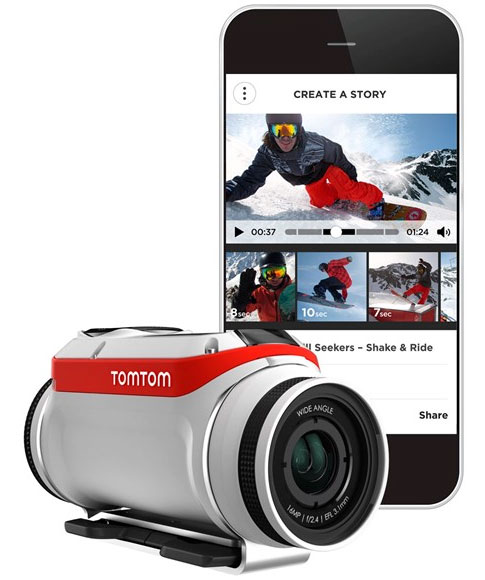 The TOMTOM Bandit will shoot 2.7k at 30fps and 4K at 15. So just one sensor iteration behind GoPro.
