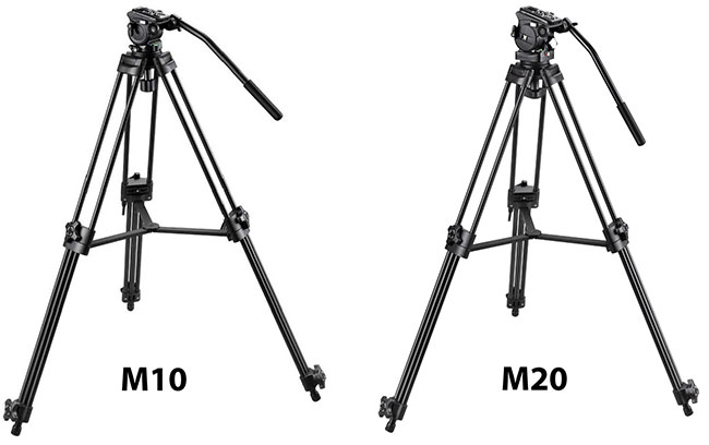 The new Vantage Tripods M10 and M20.