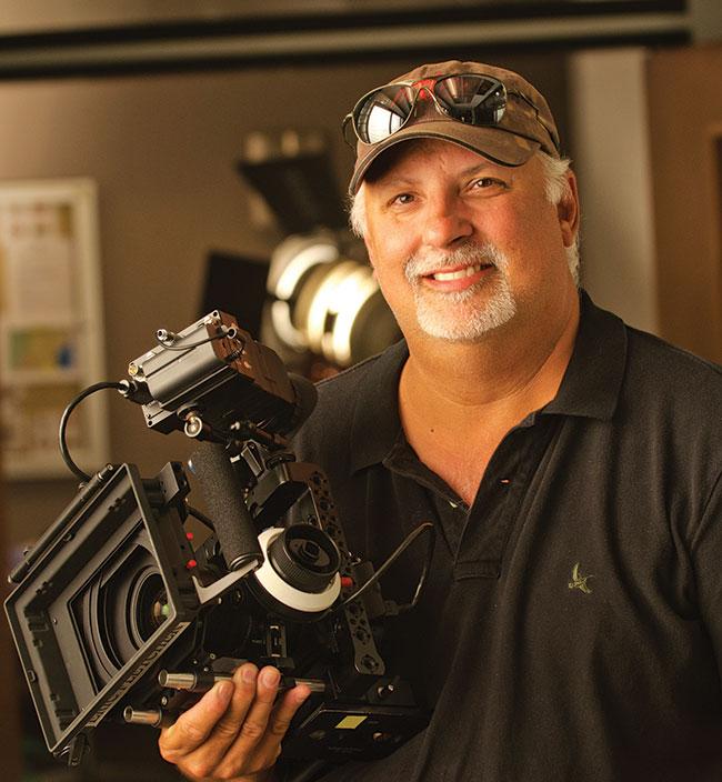 Dexter cameraman Eric Fletcher. Pic credit Randy Tepper.
