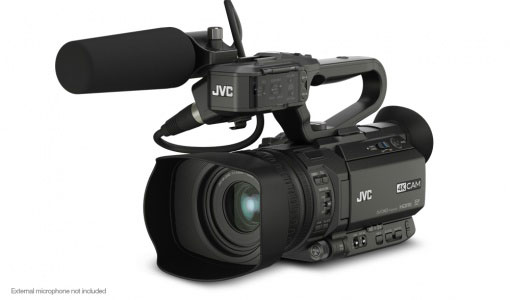The very new JVC GY-HM200GY-HM200E handheld streaming camcorder - List price £188
