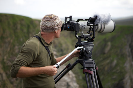 Simon King with Canon EOS 7D. Pic credit Josh Fry