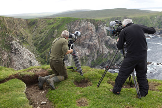 Simon King and john Maguire with both Canon EOS DSLRs. Pic Credit Josh Fry
