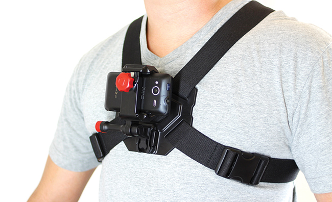 The chest harness for VeloCity Grip. Not the greatest fashion statement for today's teenager but well made.