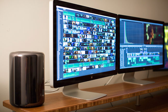 When shooting wrapped the team moved to a dedicated editing suite in LA. New Mac Pros made everything faster. Image © Apple.