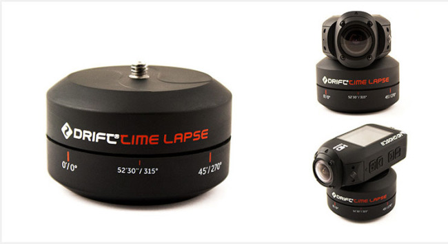 Drift's new Timelapse accessory is only 24.99 Euro and is a basic wind up device.