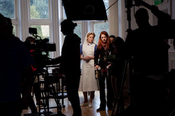 """We shot for three days in March at Avenue House, a large house in Finchley in North London."""