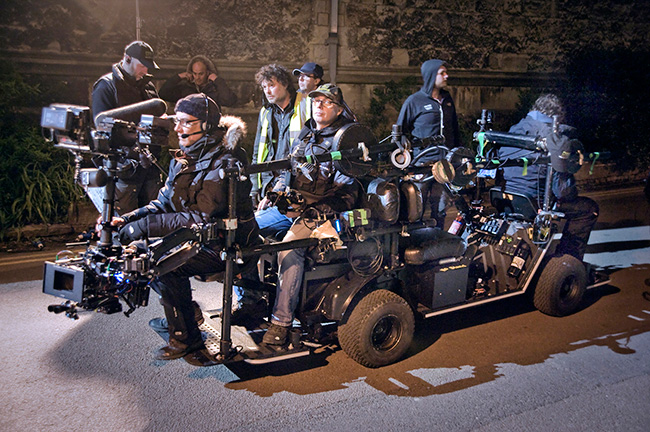 Flyka with Roger Tooley and Steadicam shooting ITV drama