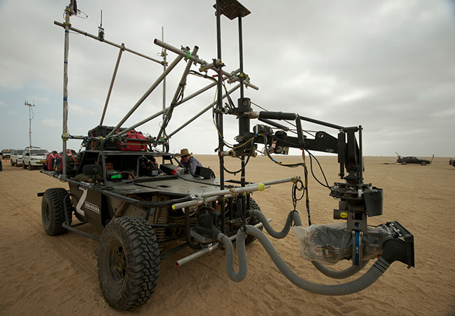 """The """"Truggie"""" tracking vehicle."""