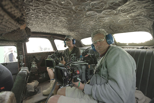 John Seale pictured with B-camera operator Andrew Johnson (l) in the War rig.