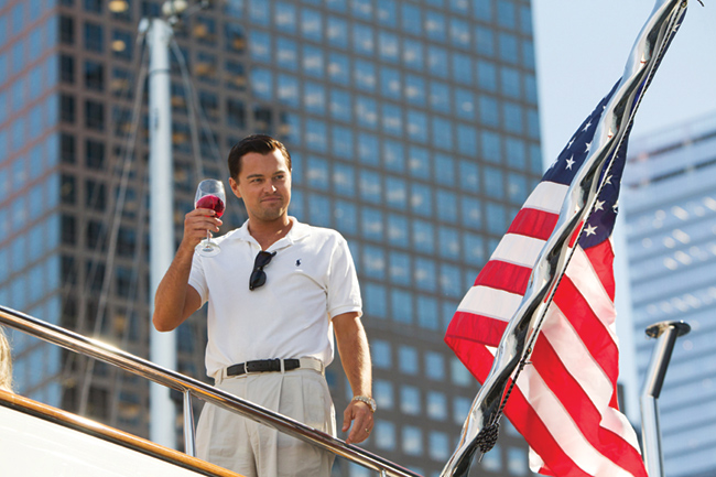 A still from The Wolf Of Wall Street which used HP workstations for VFX.