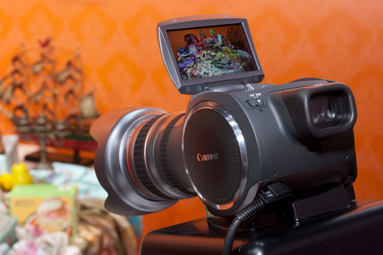 Canon's new prototype 4K stills and video camera - otherwise known as the 'Hairdryer'