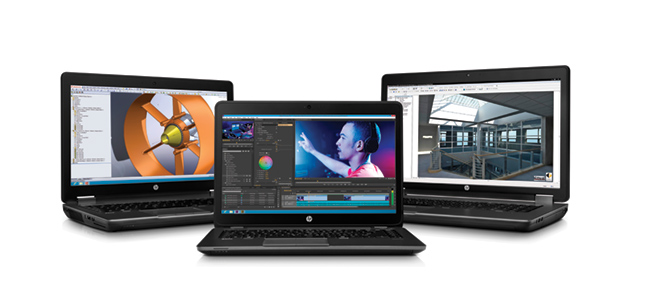 The range of new ZBooks from HP have been designed for industries like professional video with their Thunderbolt and USB3 connections and multiple drive bays with something called DreamColor.