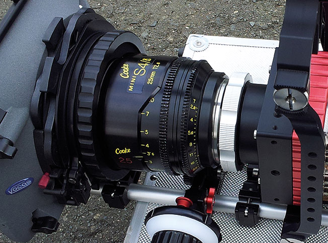 A Cooke Mini S4i 25mm lens was used with the PL mount adapter used.