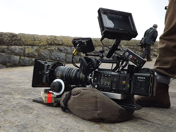 The Sony F55 fully loaded with recorder and the latest Sony batteries.