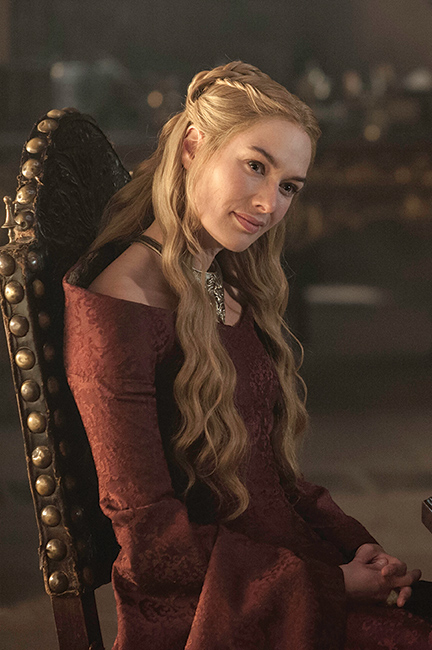 Cersei Lannister - played by Lena Headey - schemes her way through the series.