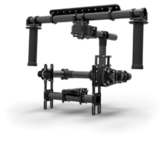 MōVI 10 has three control modes at present. Majestic mode is operator controlled via the gimbal base. Stabilized control has no operator input and stabilized slew is with a remote operator.