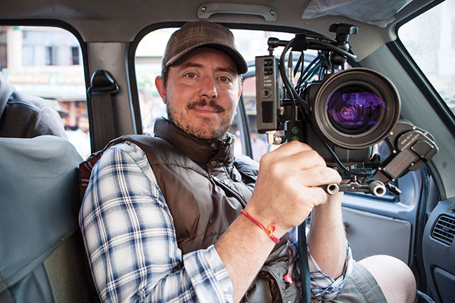 DoP Greig Fraser in-car with the Alexa M.