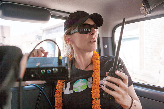 Video transmitters from the Assist team were able to send HD video to Kathryn Bigelow's handheld monitor direct from the Alexa