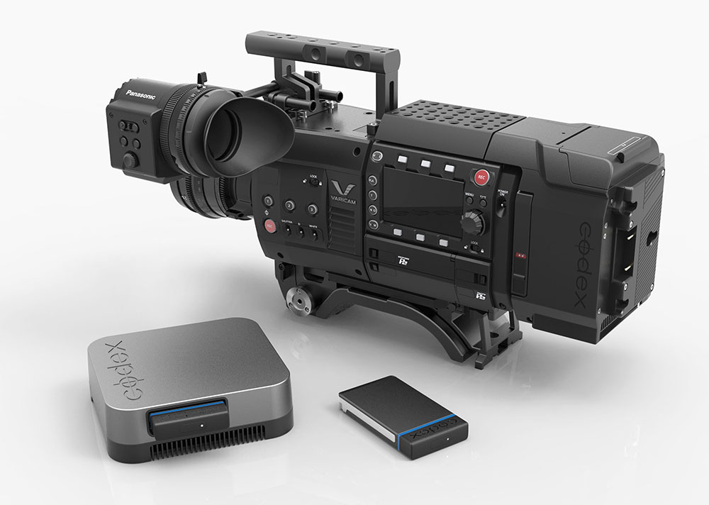 The new direct-attach Codex V-RAW Recorder enables uncompressed RAW recording at up to 120fps – and it also powers the camera!