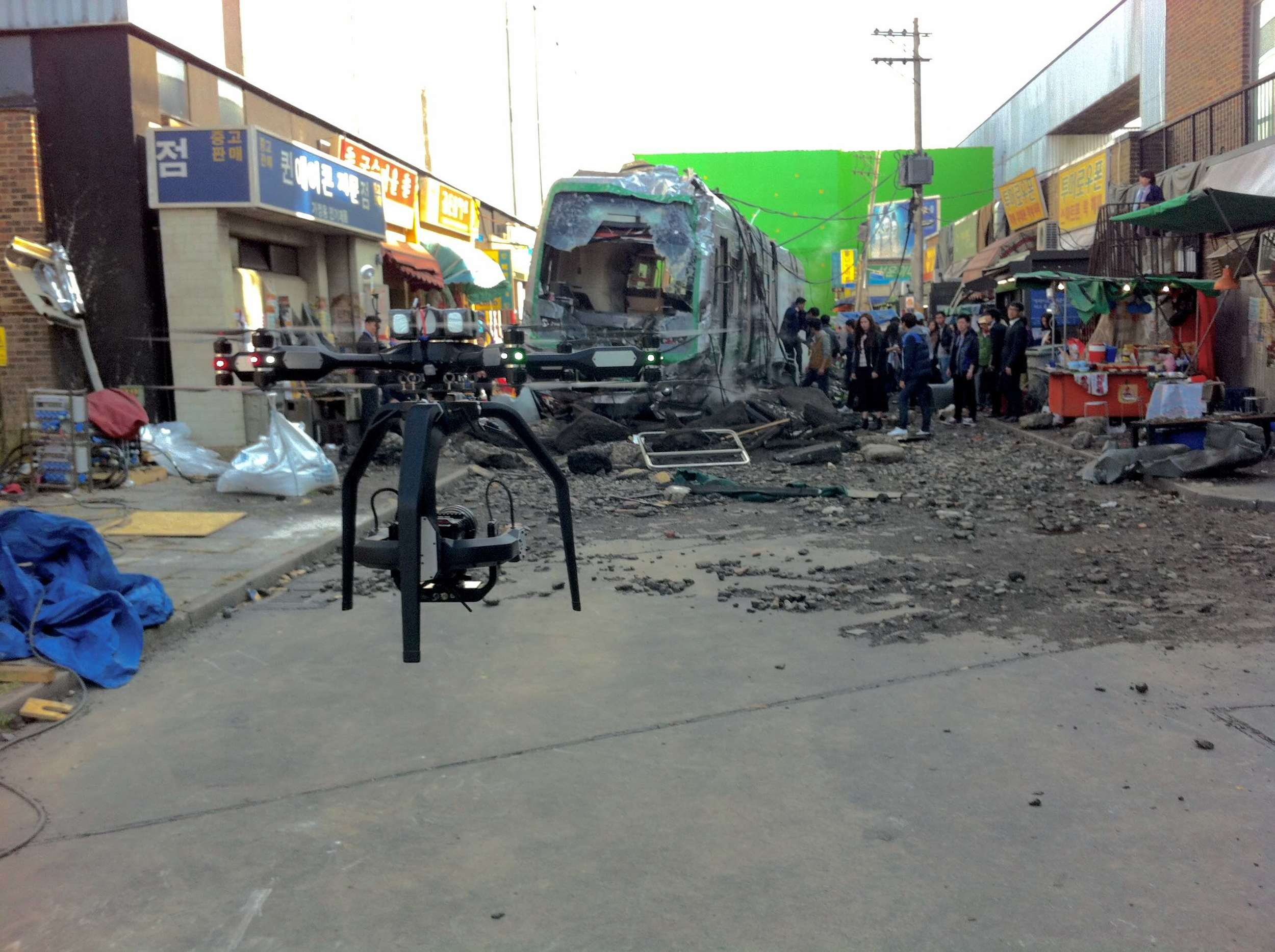 Aerigon on the set of  Avengers: Age of Ultron.