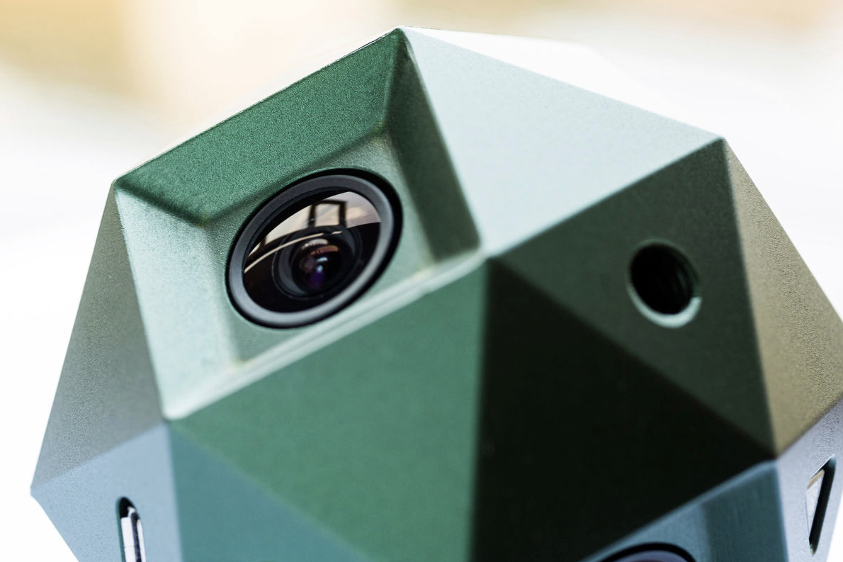 Sphericam 2 has six cameras, eight tripod mount points, six Micro SD card slots and 4k raw.