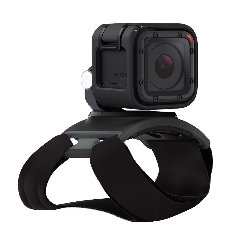 One of the new GoPro mounts also launched this week, this one straps to your body.
