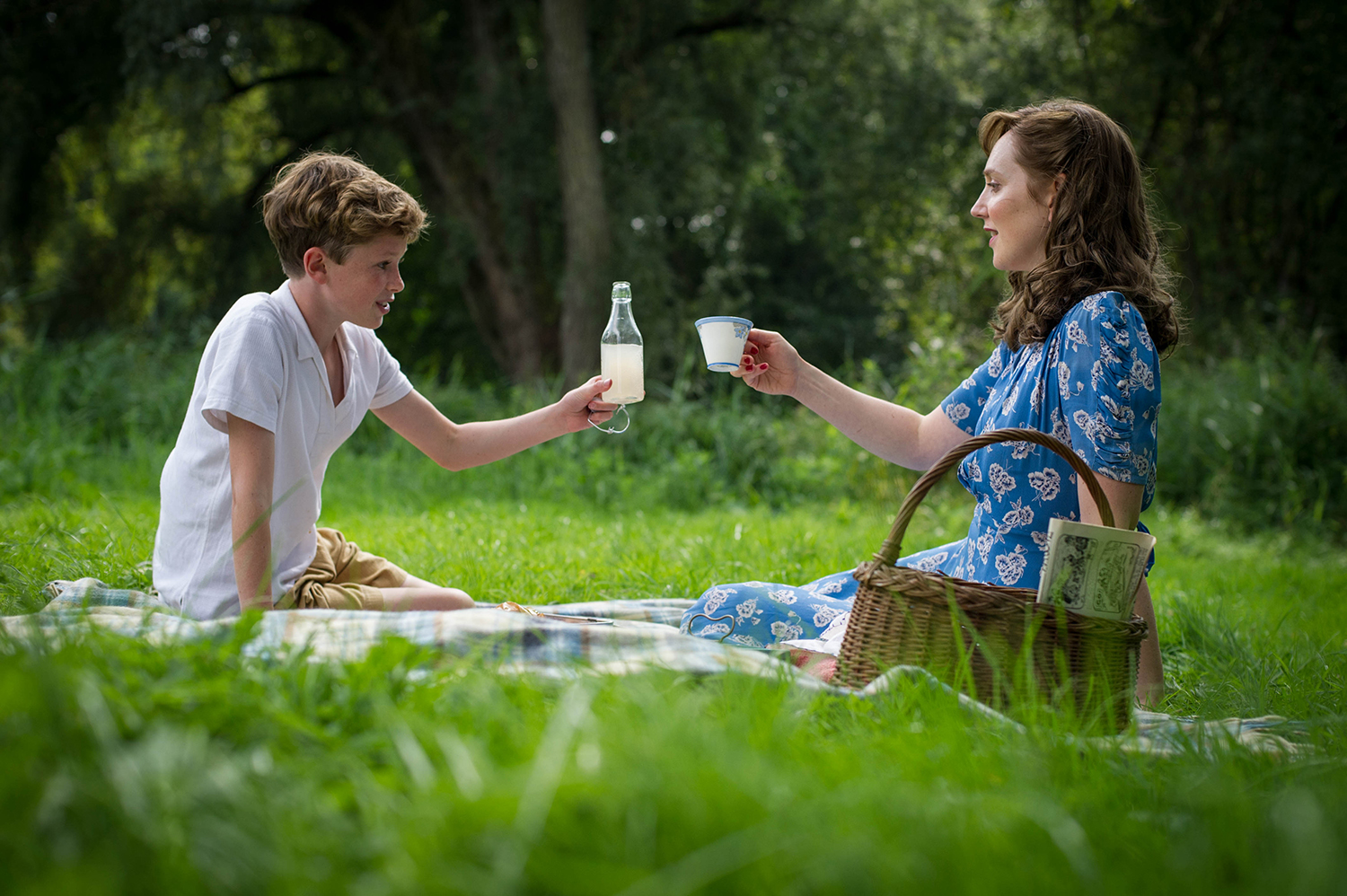 Young Lewis with his beloved mother in BBC's  The Outcast.