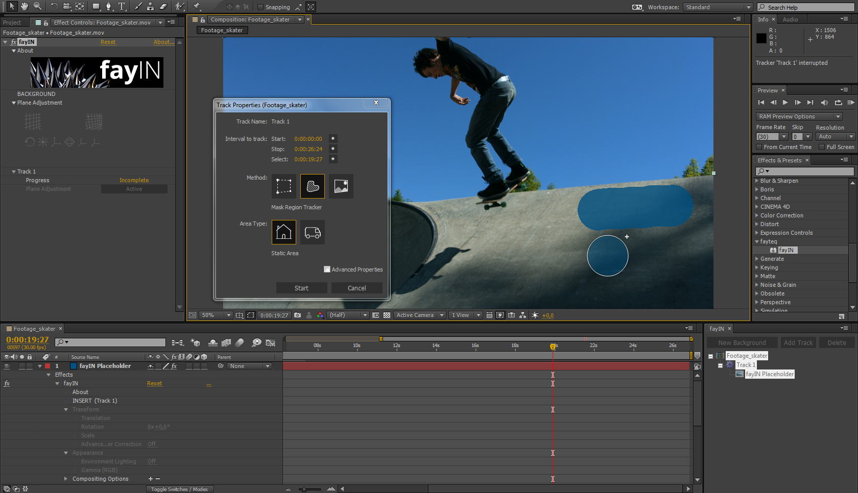fayIN  is Integrated within Adobe After Effects