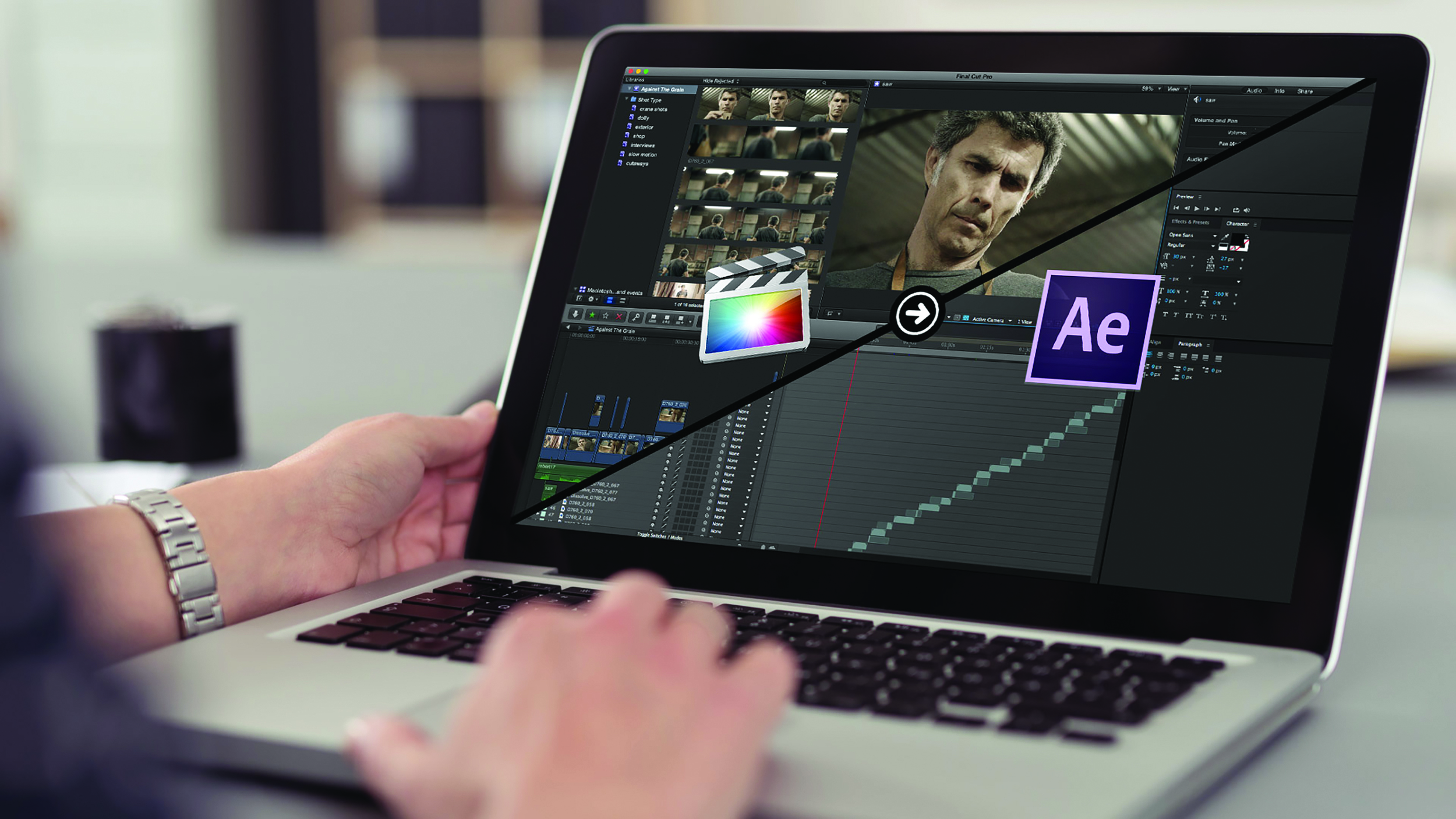 The first is XImport AE, an After Effects plug-in which provides a typically seamless import of Final Cut Pro X XML.