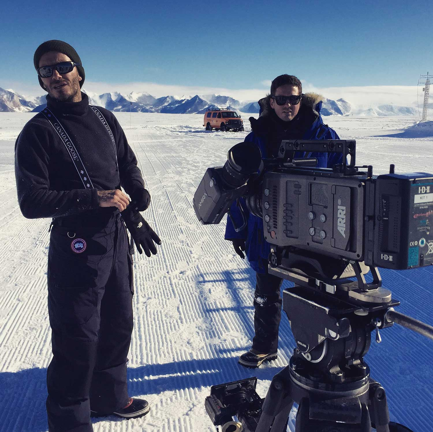 Antarctica and a lightweight rigged Alexa Mini and the Amira there for high speed shots.