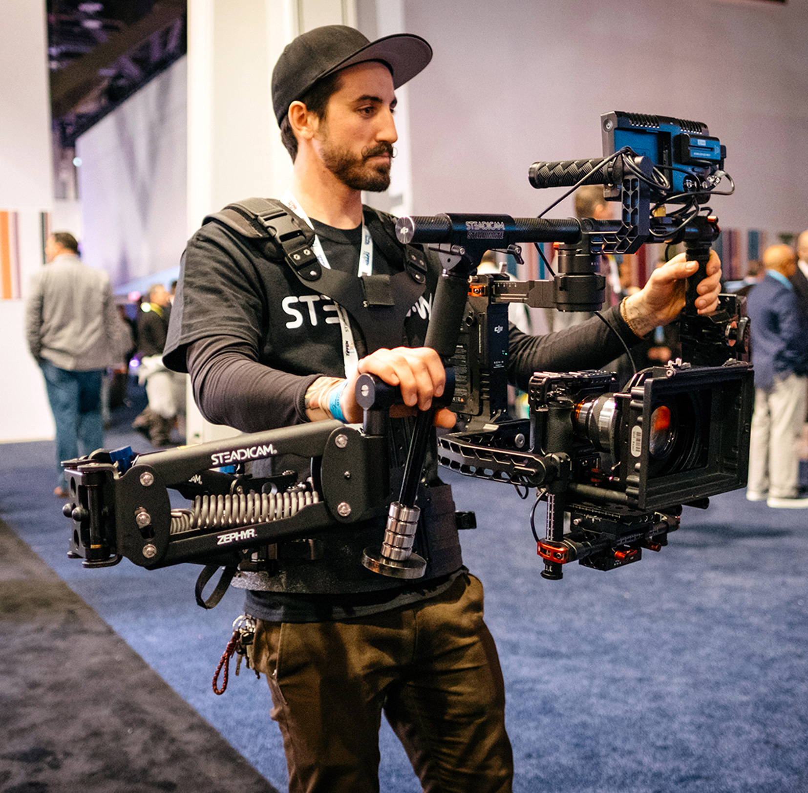 The new Steadimate arm and vest makes using a gimbal like the Ronin easier for longer times.