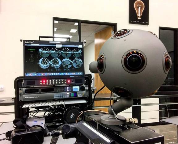 The OZO camera at Radiant Images in LA.