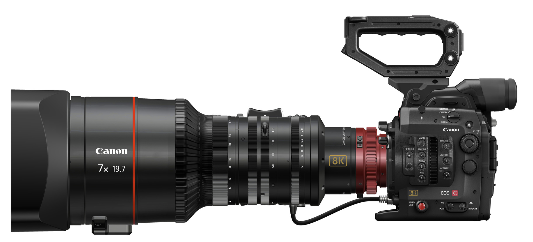 A mock-up of a possible Canon 8K camera.