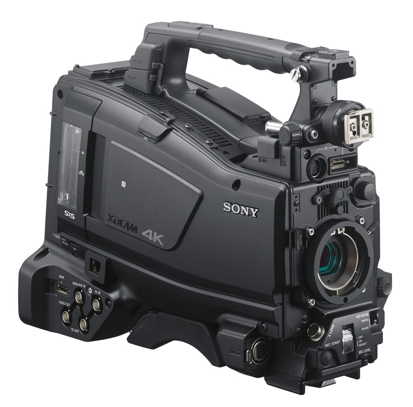 The new SONY PXW-Z450, the world's first 2/3in B4 camcorder but not the world's first 3-chip 2/3in B4 camcorder.