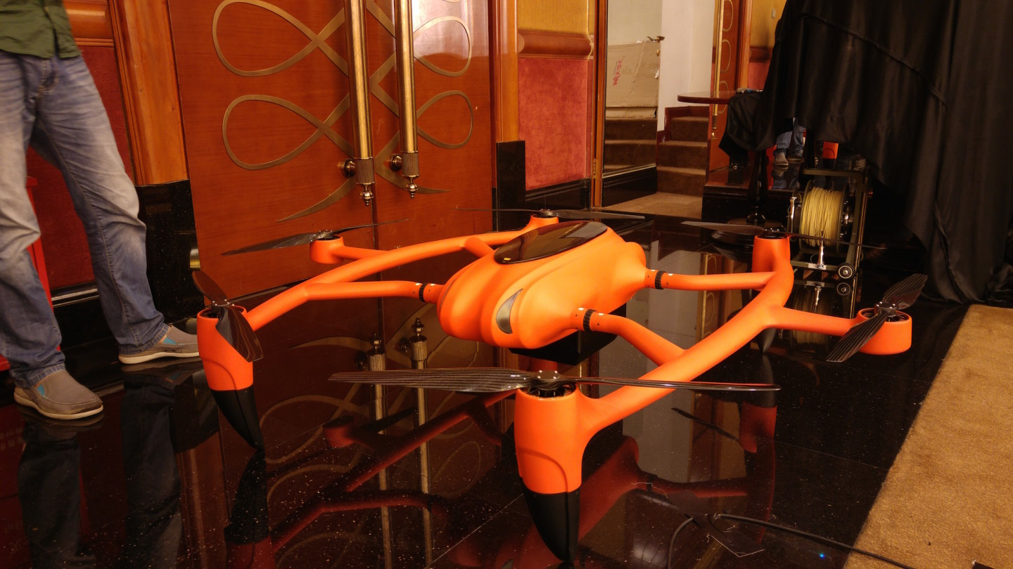 The MMC hydrogen fuelled drone has a flight time of around four hours.