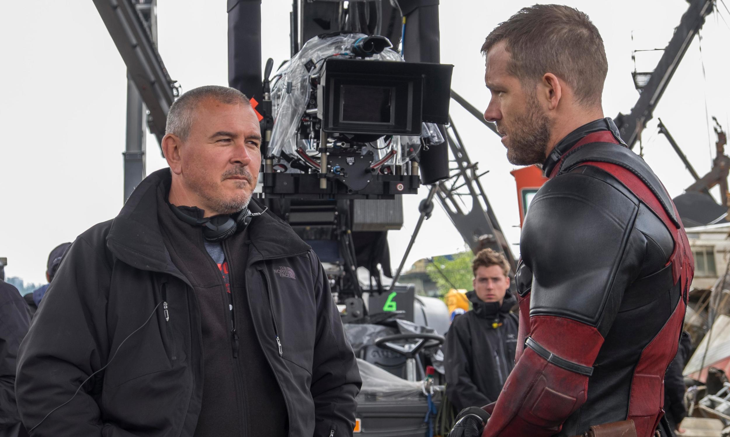 First time director of Deadpool Tim Miller with star Ryan Reynolds on-set with ARRI Alexa XT in the background.